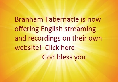 Branham Tabernacle streaming and recordings